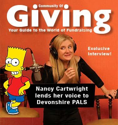 giving nancycartwright  Nancy Cartwright